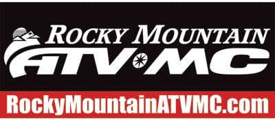 Rocky Mountain ATV//MC Logo Banner 34x80 Black//Red//White