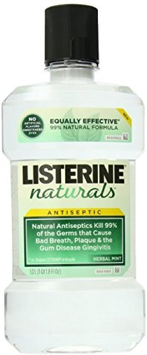 Listerine Naturals Antiseptic Mouthwash, Herbal Mint 33.8 oz (9 Pack)