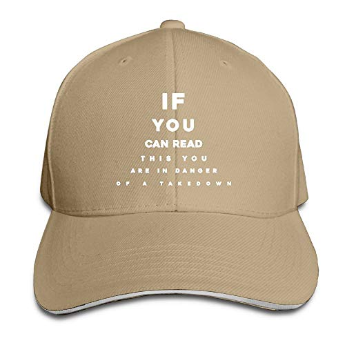 If You Can Read This You are in Danger of A Takedown Adult Twill Baseball Adjustable Hat Cap Funny Caps by ZETAPS
