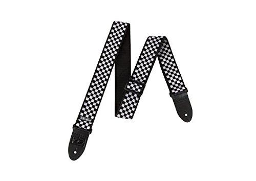 Dunlop D3831BK Black & White Checkered Strap