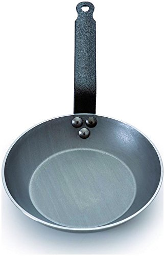 - Mauviel Msteel Steel Handled Heavy Round Frying Pan 14 In.