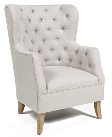 Enthralling Cafer Club Chair   Light Cream