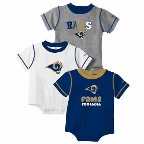 St Louis Rams Baby Infant Creeper 18 Months 3 Piece Set