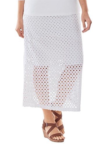 Jessica-London-Womens-Plus-Size-Flared-Eyelet-Skirt