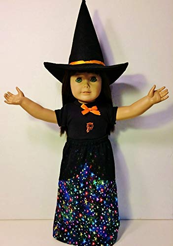The Wishlist Store Witch Costume Fits American Girl Doll or 18 Inch Doll Clothes ~ Dress and Hat Halloween Costume ! -