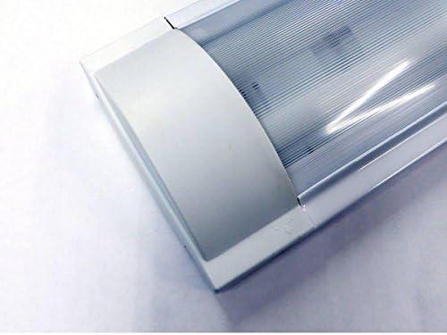 Plafoniere Neon 2x : Plafoniera piatta neon reglette soffitto 2x 36w g13 6400k: amazon.it