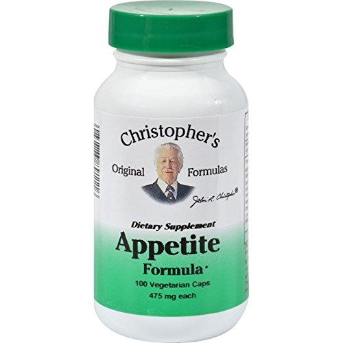 Dr. Christopher s Appetite Formula - 475 mg - 100 Vegetarian Capsules - Capsules 475 Mg 100