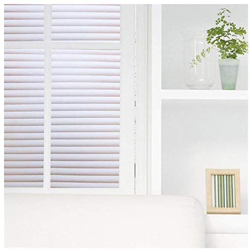 Coavas Blinds Window Film No Glue Static Film Non-Adhesive Frosted Privacy Window Decal Decorative Privacy Window Film, 35.5x 78.7