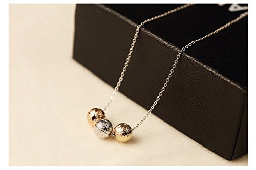 Circle Columbus Information - Metal Tone Three Balls Necklace