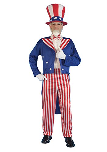 Forum Novelties Men's Patriotic Party Uncle Sam Halloween Costume, Red/White/Blue, X-Large