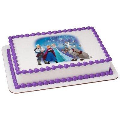 Amazoncom Disneys Frozen Northern Lights Licensed Edible Cake