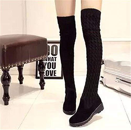 Rodilla Eu Cachemira De Botas Cuestas Zapatos 37 Deed Lana Planas Con Y Mujer CqA7ntwz