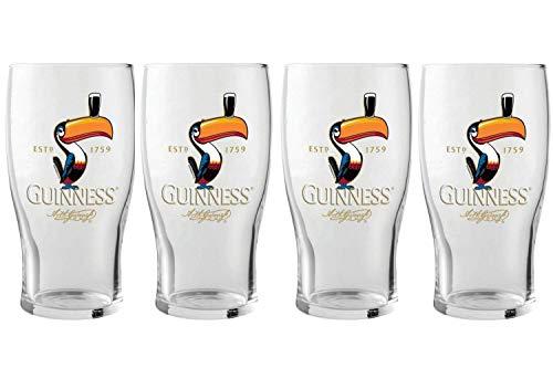 Guinness Toucan Pint Glass, 4 pack