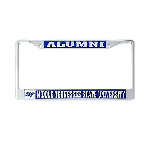 Desert Cactus Middle Tennessee State University Alumni Metal License Plate Frame for Front Back of Car Officially Licensed Blue Raiders (Alumni)