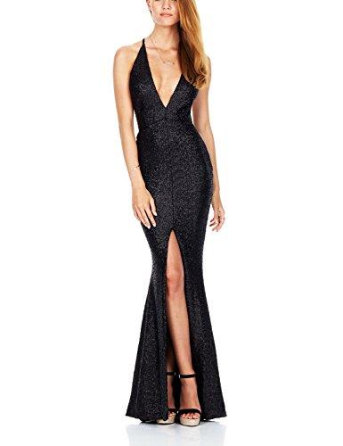 V-Neck Sequin Dress - 6