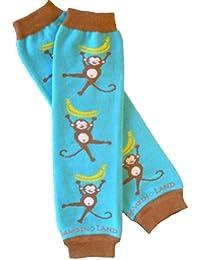 Monkeys (Teal) Organic Leg Warmers By Bambino Land