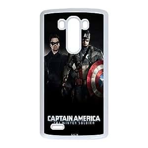 Captain America Winter Soldier LG G3 Cell Phone Case White 53Go-264842