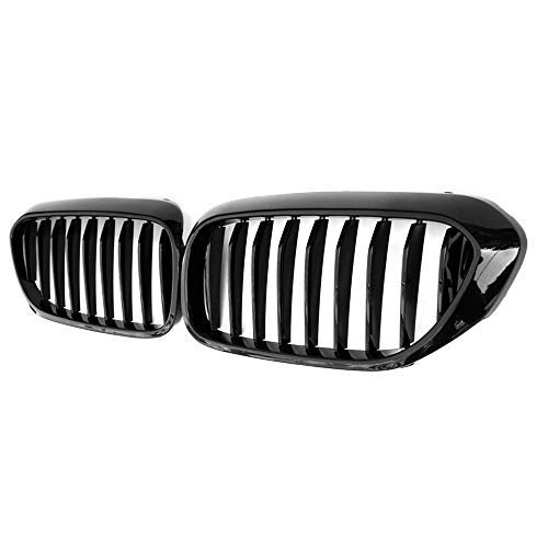 Huichi Front Replacement Kidney Grille Grill Compatible with BMW 5 Series G30 single Line Glossy ()