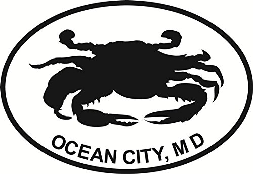 Ocean City Crab Euro Oval Bumper Sticker