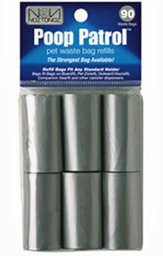 Ends Pull - Noz2Noz Poop Patrol Pet Waste Bags With EZ Pull Dispensing, 90-Count