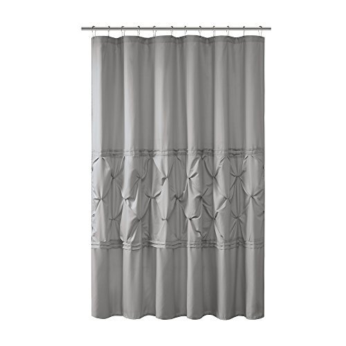 Comfort Spaces  Cavoy Shower Curtain  Gray  Tufted Pattern - 72x72 inches