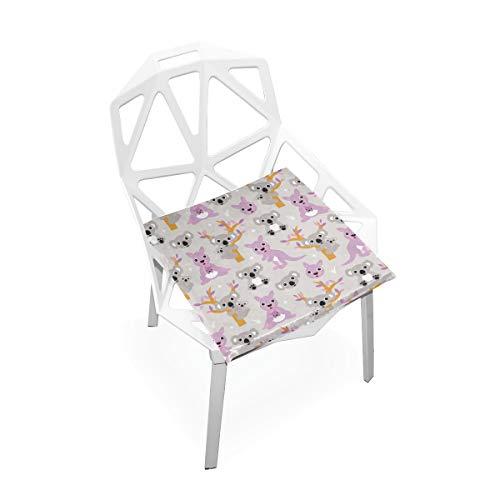 Danexwi Kalamazoo Kangaroo Australia Custom Soft Non-Slip Square Memory Foam Chair Pads Cushions Seat for Home Kitchen Dining Room Office Wheelchair Desk Furniture Indoor 16x16 Inch (Kalamazoo Furniture)