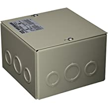 """Wiegmann SC060604 SC-Series NEMA 1 Screw Cover Wallmount Pull Box with Knockouts, Painted Steel, 6"""" x 6"""" x 4"""""""