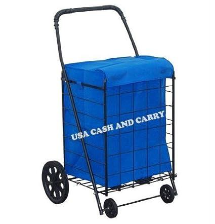bc8ac1cbfdde Amazon.com  PrimeTrendz TM Jumbo Shopping Cart Liner securely to ...