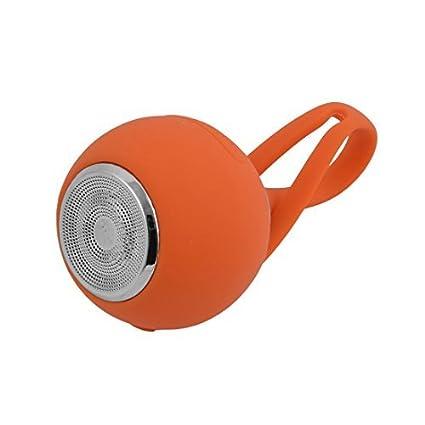 eDealMax silicona deportes al aire Libre Mini-tarjeta portátil estéreo Bluetooth altavoz subwoofer de Orange