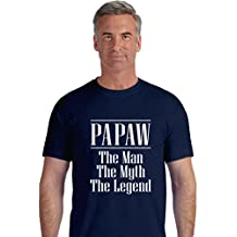 TeeStars - PAPAW The Man The Myth Legend Father's Day Gift for Grandpa T-Shirt XX-Large Navy
