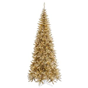 vickerman champagne tinsel fir christmas tree