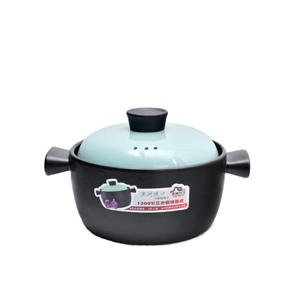 Casserole dishes with lids hob to oven non stick,High temperature resistant heat resistant casserole Christmas gift for family-blue