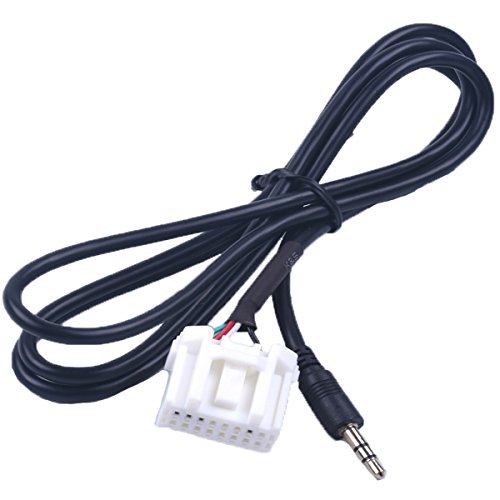 New Car 3 5Mm Aux Audio Cd Interface Adapter Cable For Mazda 2 3 5 6 2006 2013 Black