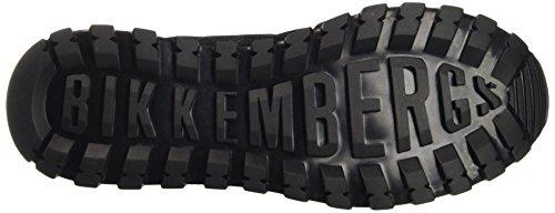 Bikkembergs Herren Numb-er 650 Scarpa Bassa M In Pelle / Lycra Pumps Nero (nero / Rosso)