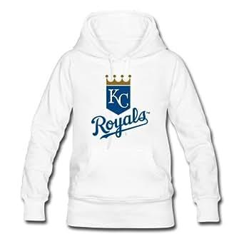 Fashion&Modern Kansas City Royals Women Classic Hoodie Hoody Pullover Sweatshirt White L