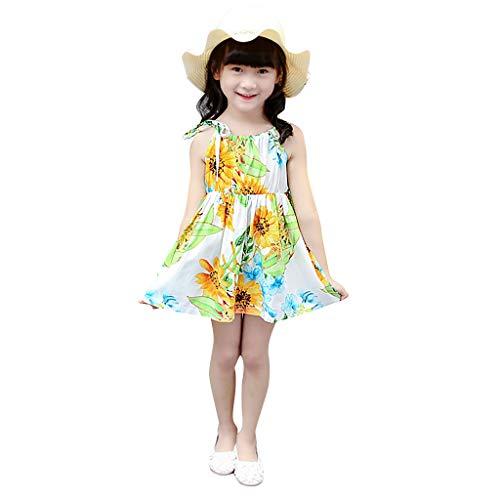 Sweet Lace Vest Petal Dress Baby Girls Princess Dress Pageant Sleeveless Print Dresses