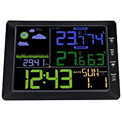 Radio Clock Alarm - Atomic Wireless Weather Station With Indoor Outdoor Sensor Ts 8210 Color Display Alarm Clock - Play Vintage Impaired Radio Powered Small Smart Electric Twin Multiple Hot