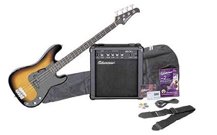 Silvertone LB11 Bass Guitar and Amp Package, Sunburst best bass guitar
