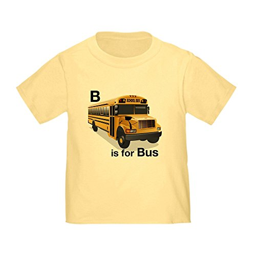 CafePress - B is for Bus: School Bus Toddler T-Shirt - Cute Toddler T-Shirt, 100% Cotton (Toddler School Tee)