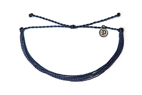 Pura Vida Original Solid Indigo Bracelet - Iron-Coated Charm, Adjustable Band - 100% Waterproof Lightweight Solid Bracelet