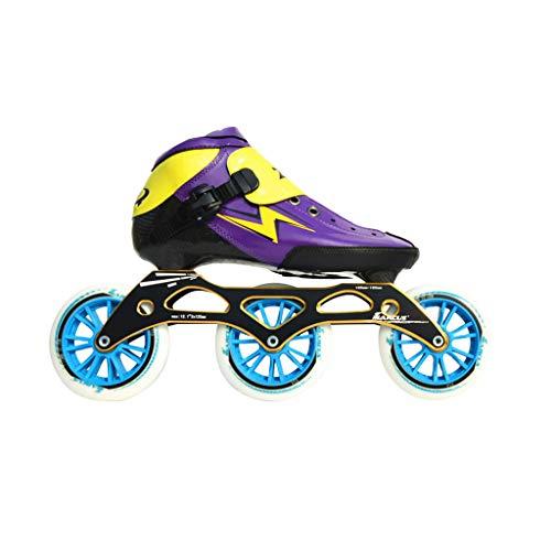 誇大妄想つづり裁量ailj スピードスケートシューズ90MM-110MM調整可能なインラインスケート、ストレートスケートシューズ(3色) (色 : 青, サイズ さいず : EU 42/US 9/UK 8/JP 26cm)