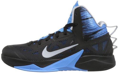 af9fc0ce0e9f ... Nike Men s Zoom Hyperfuse 2013 Basketball Shoe-Black Wolf Grey-Vivid  Blue - .