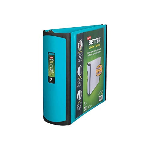 (Staples 3 Inch BetterView Binder with D-Rings (Teal))