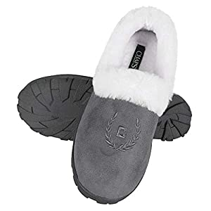 Chaps Women's House Slipper Moccasin Warm Fuzzy Memory Foam Micro Suede Indoor Outdoor Comfort