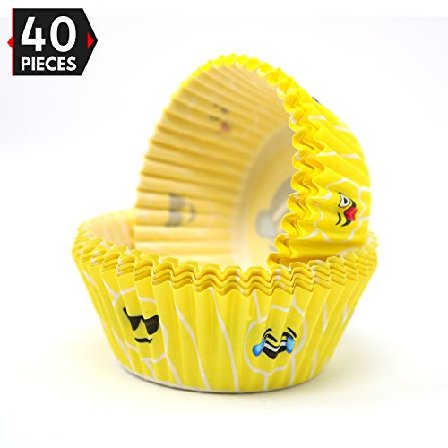 Emoji Liners Party Cupcake Holders