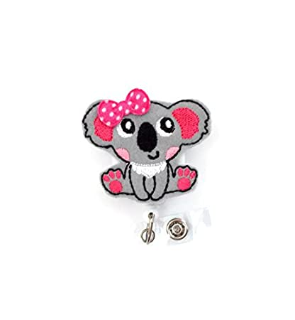 Amazon com: Katie the Koala - Retractable Id Felt Badge
