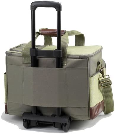 Picnic at Ascot- Original Insulated Picnic Cooler on Wheels with Service for 4- Designed Assembled in the USA
