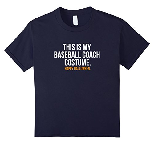 Kids This is my Baseball Coach Costume funny Halloween t-shirt 12 (Little Boy Baseball Costume)