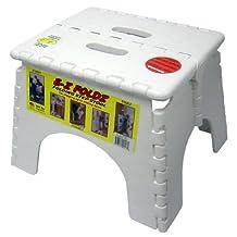 B&R Plastics 101-6 White EZ Foldz Step Stool