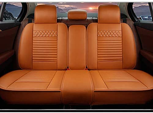 with headrest and waistrest for Toyota Tacoma 5 Car Seat Covers Luxury Durable Comfort Leatherette Seat Cushions Airbag Compatible Front and Rear Seats Covers Black red
